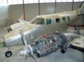 The Beechcraft, mid-restoration