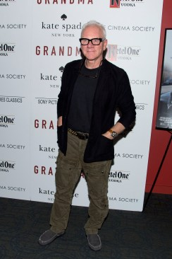 "Malcolm McDowell== The Cinema Society and Kate Spade host a screening of Sony Pictures Classics ""Grandma""== Landmark Sunshine Cinema, NYC== August 18, 2015== ©Patrick McMullan== Photo - Clint Spaulding/PatrickMcMullan.com== =="