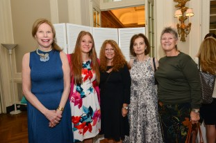 Junia Doan, Halle Frerman, Paulette Douglas, Eva Halpern, Jaclyn Helpern == Women's Voices for Change Luncheon in honor of Christy Turlington Burns, 2015 Champion For Change== Private Manhattan Club, NYC== September 21, 2015== ©Patrick McMullan== Photo - Jared Siskin/patrickmcmullan.com==