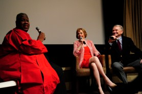 "Andre Leon Talley, Carol Burnett, Bob Mackie== Time Life and The Cinema Society host a screening of ""The Carol Burnett Show: The Lost EpisodesÓ== Tribeca Grand Hotel, NYC== September 17, 2015== ©Patrick McMullan== Photo - Paul Bruinooge/PatrickMcMullan.com== =="