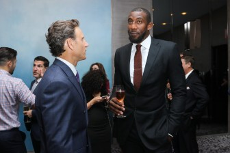 NEW YORK, NY - SEPTEMBER 10: Actor Tony Goldwyn and professional basketball player Amar'e Stoudemire attends The Daily Front Row's Third Annual Fashion Media Awards at the Park Hyatt New York on September 10, 2015 in New York City. (Photo by John Parra/Getty Images for The Daily Front Row)