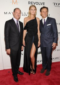 NEW YORK, NY - SEPTEMBER 10: (L-R) President of Maybelline-Garnier at L'Oreal David Greenberg, model Toni Garrn, and actor Tony Goldwyn attend The Daily Front Row's Third Annual Fashion Media Awards at the Park Hyatt New York on September 10, 2015 in New York City. (Photo by Rommel Demano/Getty Images for The Daily Front Row)