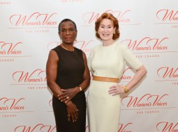 Faith Childs, Dr. Pat Allen== Women's Voices for Change Luncheon in honor of Christy Turlington Burns, 2015 Champion For Change== Private Manhattan Club, NYC== September 21, 2015== ©Patrick McMullan== Photo - Jared Siskin/patrickmcmullan.com==