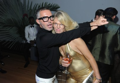 NEW YORK, NY - OCTOBER 24: Dan Caten and Madeline Weeks attend as Dean and Dan Caten celebrate their one year U.S. retail anniversary with a private party at The Halston House on October 24, 2015 in New York City. (Photo by Craig Barritt/Getty Images for DSQUARED2)