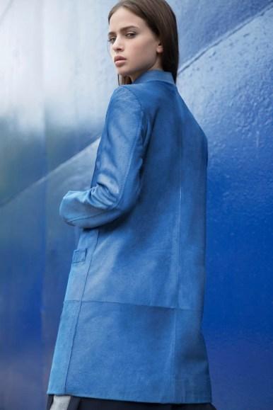 BLUE CALFSKIN CAR COAT 4