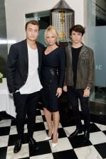Dylan Jagger Lee, Pamela Anderson and Brandon Thomas Lee