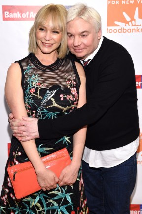 """""""NEW YORK, NY - APRIL 20: Kelly Tisdale and actor Mike Meyers attend the Food Bank Of New York City's Can Do Awards 2016 hosted by Michael Strahan and Mario Batali at Cipriani Wall Street on April 20, 2016 in New York City. (Photo by Dimitrios Kambouris/Getty Images for Food Bank of New York City)"""""""
