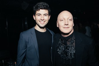 Ian Nelson and James St. James attend Giorgio's Chapter 2 - The New Sound presented by Bryan Rabin and Adam Bravin at The Standard Hotel Hollywood on Saturday, April 9th, 2016 in Los Angeles, CA (Tyler Curtis/ @tyliner)