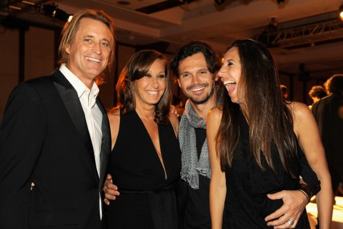 NEW YORK, NY - MAY 23: (L-R) Russell James, Donna Karan, Gianpaolo De Felice and Gabby Karan De Felice attend the 2016 Parsons Benefit at Chelsea Piers on May 23, 2016 in New York City. (Photo by Rabbani and Solimene Photography/Getty Images for Parsons School of Design/The New School)