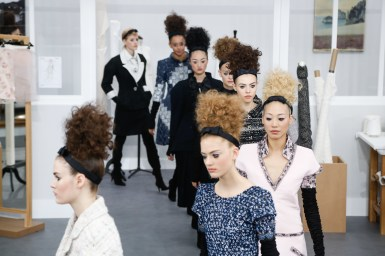 PARIS, FRANCE - JULY 05: Models walk the runway during the Chanel Haute Couture Fall/Winter 2016-2017 show as part of Paris Fashion Week on July 5, 2016 in Paris, France. (Photo by Victor Boyko/Getty Images)