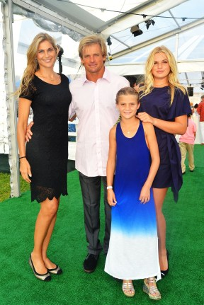 Gabrielle Reece, Laird Hamilton, Reece Hamilton, Izabella Hamilton==The 2016 Hamptons Paddle & Party for Pink Benefiting the Breast Cancer Research Foundation==Fairview on Mecox Bay, Bridgehampton, NY==August 06, 2016==© Patrick McMullan==Photo - Patrick McMullan/PMC== ==