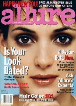 Winona Ryder on the January 2000 cover of Allure
