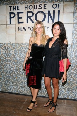 NEW YORK, NY - SEPTEMBER 07: Victoria Gucci (R) and a guest attend The House of Peroni Opening Night hosted by Francesco Carrozzini on September 7, 2016 in New York City. (Photo by Sylvain Gaboury/Patrick McMullan via Getty Images)