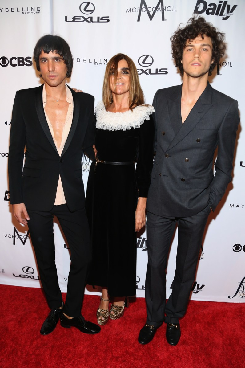 Sebastian Faena, Carine Roitfeld, Miles McMillan==The Daily Front Row's 4th Annual Fashion Media Awards - Arrivals==Park Hyatt New York, NYC==September 8, 2016==©Patrick McMullan==Photo - Sylvain Gaboury/PMC== == Sebastian Faena; Carine Roitfeld; Miles McMillan