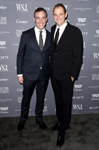 NEW YORK, NY - NOVEMBER 02: Honorees Will Guidara (L) and Daniel Humm attend the WSJ Magazine 2016 Innovator Awards at Museum of Modern Art on November 2, 2016 in New York City. (Photo by Nicholas Hunt/Getty Images for WSJ. Magazine Innovators Awards)