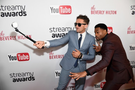 BEVERLY HILLS, CA - OCTOBER 04: Internet personality Casey Neistat (L) and host King Bach attend the 6th annual Streamy Awards hosted by King Bach and live streamed on YouTube at The Beverly Hilton Hotel on October 4, 2016 in Beverly Hills, California. (Photo by Frazer Harrison/Getty Images for dick clark productions)