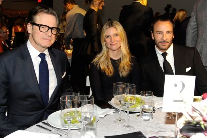 NEW YORK, NY - NOVEMBER 02: (L-R) Colin Firth, WSJ Magazine Editor In Chief Kristina O'Neill, and honoree Tom Ford attend the WSJ Magazine 2016 Innovator Awards at Museum of Modern Art on November 2, 2016 in New York City. (Photo by Rabbani and Solimene Photography/Getty Images for WSJ. Magazine Innovators Awards)
