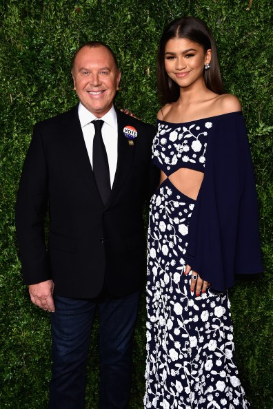 NEW YORK, NY - NOVEMBER 07: Zendaya and Michael Kors attend 13th Annual CFDA/Vogue Fashion Fund Awards at Spring Studios on November 7, 2016 in New York City. (Photo by Dimitrios Kambouris/Getty Images)