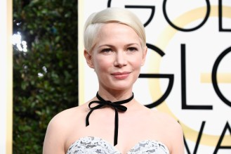 BEVERLY HILLS, CA - JANUARY 08: Actress Michelle Williams attends the 74th Annual Golden Globe Awards at The Beverly Hilton Hotel on January 8, 2017 in Beverly Hills, California. (Photo by Frazer Harrison/Getty Images)