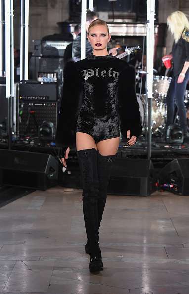 NEW YORK, NY - FEBRUARY 13: A model walks the runway for the Philipp Plein collection during New York Fashion Week: The Shows at New York Public Library on February 13, 2017 in New York City. (Photo by Albert Urso/Getty Images for New York Fashion Week: The Shows)