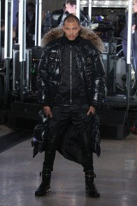 NEW YORK, NY - FEBRUARY 13: Model Jeremy Meeks walks the runway wearing look #1 for the Philipp Plein Fall/Winter 2017/2018 Women's And Men's Fashion Show at The New York Public Library on February 13, 2017 in New York City. (Photo by Thomas Concordia/Getty Images for Philipp Plein)