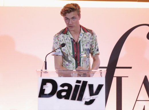 WEST HOLLYWOOD, CA - APRIL 02: Model Lucky Blue Smith speaks onstage during the Daily Front Row's 3rd Annual Fashion Los Angeles Awards at Sunset Tower Hotel on April 2, 2017 in West Hollywood, California. (Photo by Neilson Barnard/Getty Images)