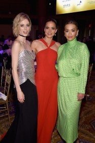 "NEW YORK, NY - APRIL 27: (L-R) DKMS ambassador Coco Rocha, DKMS founder Katharina Harf, and recording artist Rita Ora attend 11th Annual DKMS ""BIG LOVE"" Gala on April 27, 2017 in New York City. (Photo by Dimitrios Kambouris/Getty Images for DKMS)"
