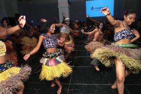 NEW YORK, NY - MAY 17: Members of the Swahili childrens dance troupe, Batoto Yetu attend as Malaika hosts Malaika10 honoring Barry Segal & Tina Buchan at Espace on May 17, 2017 in New York City. (Photo by Cindy Ord/Getty Images for Malaikla10)