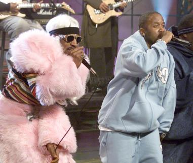 "Outkast on ""The Tonight Show with Jay Leno"" at the NBC Studios in Los Angeles, Ca. Wednesday, Jan. 30, 2002. Photo by Kevin Winter/Getty Images."