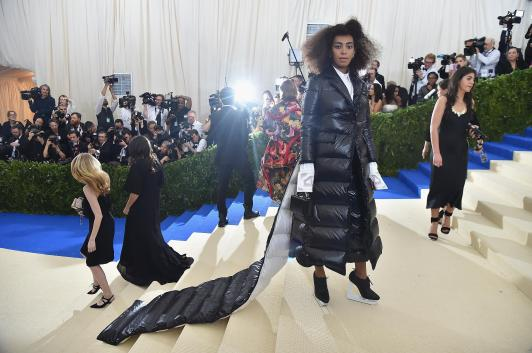 "NEW YORK, NY - MAY 01: Solange attends the ""Rei Kawakubo/Comme des Garcons: Art Of The In-Between"" Costume Institute Gala at Metropolitan Museum of Art on May 1, 2017 in New York City. (Photo by Theo Wargo/Getty Images For US Weekly)"