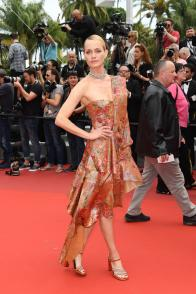 """CANNES, FRANCE - MAY 18: Amber Valletta attends the """"Wonderstruck"""" screening during the 70th annual Cannes Film Festival at Palais des Festivals on May 18, 2017 in Cannes, France. (Photo by Matthias Nareyek/Getty Images)"""