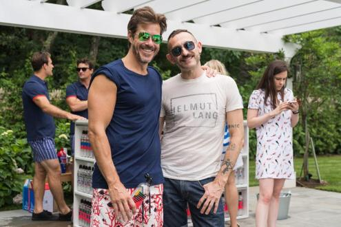 SAG HARBOR, NY - JULY 15: Mark Tevis and Guest attend The Daily Summer's 3rd annual Boys of Summer Party on July 15, 2017 in Sag Harbor, New York. (Photo by Presley Ann/Patrick McMullan via Getty Images)