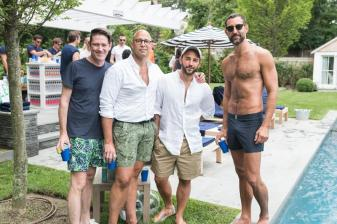 SAG HARBOR, NY - JULY 15: Eddie Roche, Luis Fernadez, Brandon Hernadez and Stephen Savage attends The Daily Summer's 3rd annual Boys of Summer Party on July 15, 2017 in Sag Harbor, New York. (Photo by Presley Ann/Patrick McMullan via Getty Images)
