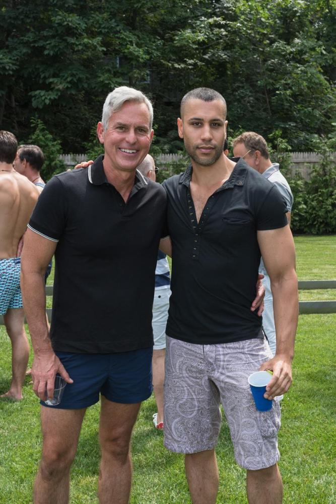 SAG HARBOR, NY - JULY 15: Bruce Gunner and James Flowers attend The Daily Summer's 3rd annual Boys of Summer Party on July 15, 2017 in Sag Harbor, New York. (Photo by Presley Ann/Patrick McMullan via Getty Images)