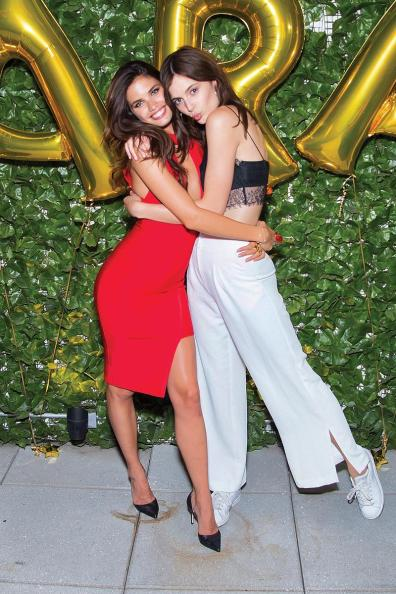 NEW YORK, NY - JULY 20: Models Sara Sampaio (L) and Sadie Newman attends Sara Sampaio's 25th birthday celebration at Butter on July 20, 2016 in New York City. (Photo by Michael Stewart/Getty Images)