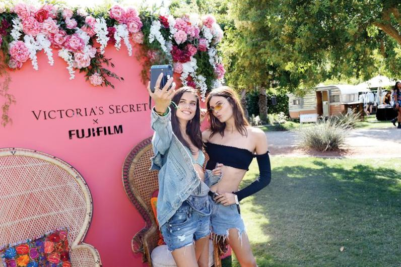 INDIO, CA - APRIL 14: Sara Sampaio and Sadie Newman attend Victoria's Secret Angels Celebrate the Sexy Little Things Launch at the Angel Oasis on April 14, 2017 in Indio, California. (Photo by Stefanie Keenan/Getty Images for Victoria's Secret)