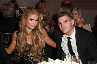 Paris Hilton, Chris Zylka== Fashion Group International 34th Annual Night of Stars Gala== Cipriani Wall Street, NYC== October 26, 2017== ©Patrick McMullan== Photo - Gonzalo Marroquin/PMC== ==