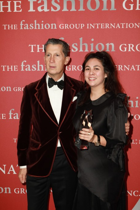 Stefano Tonchi, Simone Rocha== Fashion Group International 34th Annual Night of Stars Gala== Cipriani Wall Street, NYC== October 26, 2017== ©Patrick McMullan== Photo - Gonzalo Marroquin/PMC== ==