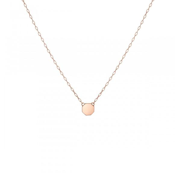 14K Rose Gold - Mini STOP Pendant Necklace - 3.18