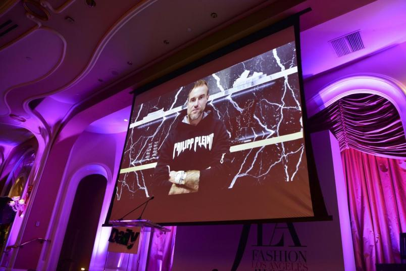 Philipp Plein via live video from Paris (Hannah Turner-Harts)