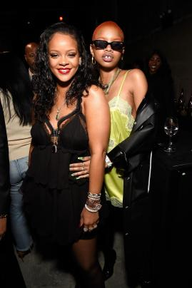 Rihanna and Slick Woods (Getty Images)