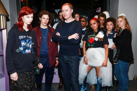 Remington Williams, Stuart Vevers, DJ Venus X (Neil Rasmus/BFA.com)