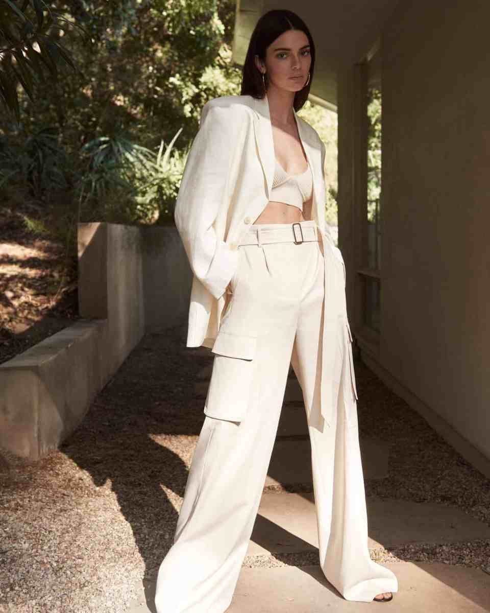 Kendall Jenner elegantly wears a transparent black blouse and silk tube skirt 6