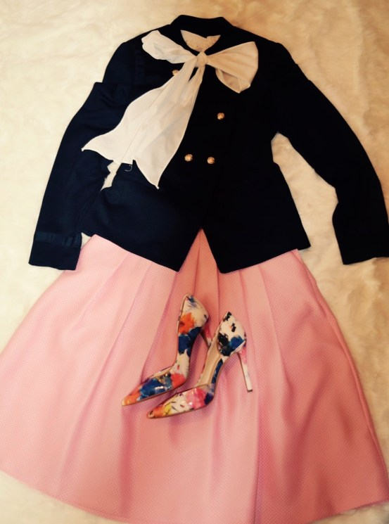 Navy Pink Colorful Shoes