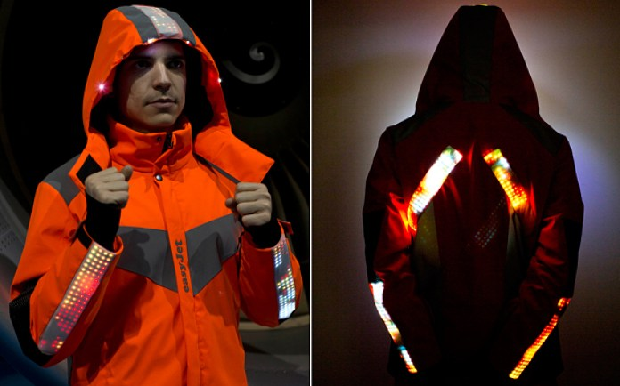 Engineers uniforms with LEDs in the jacket hoods to illuminate work areas, as well as an in-built camera | Photo: TIM ANDERSON