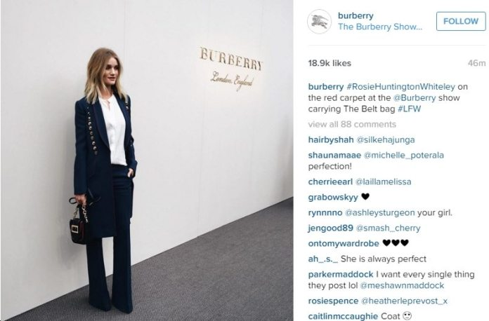rosie WH at burberry aw16 show london