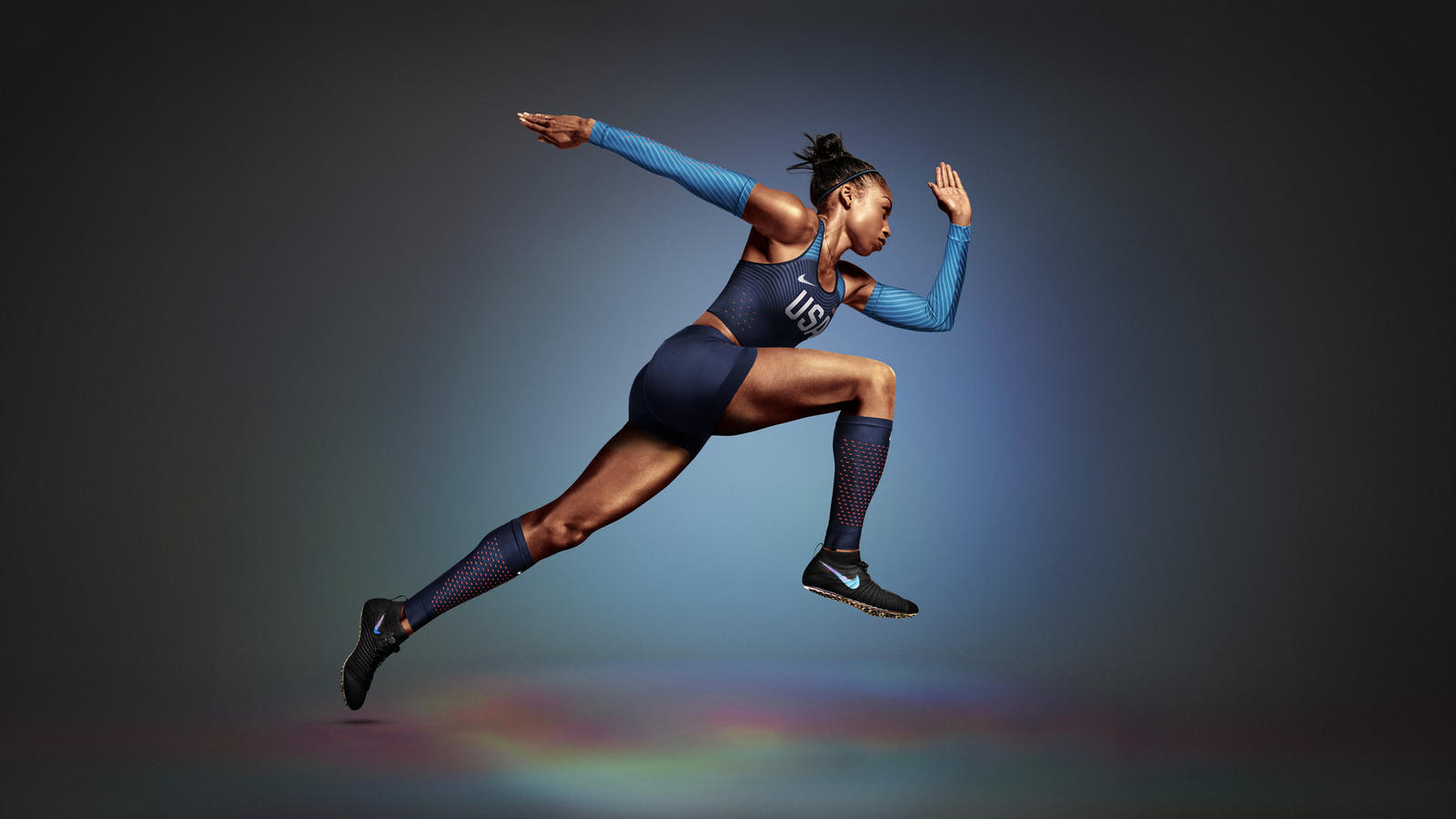 04ae26c92 Nike Zoom Superfly Flyknit track spike that they had designed and created  for sprinter Allyson Felix