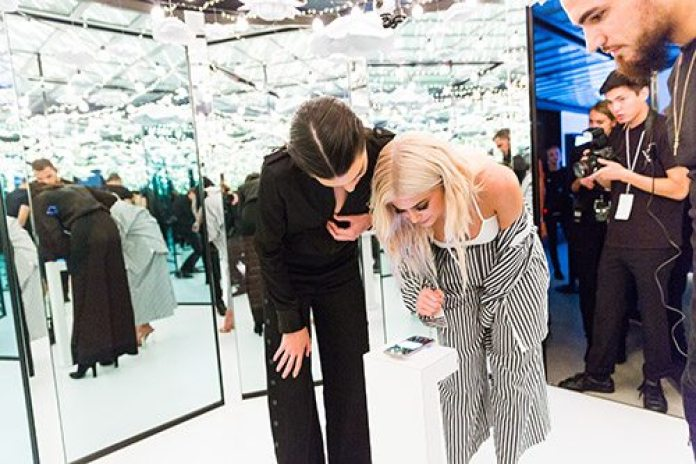 """Samsung also created a """"see now, buy now"""" station for Kendall and Kylie Jenner's newest line"""