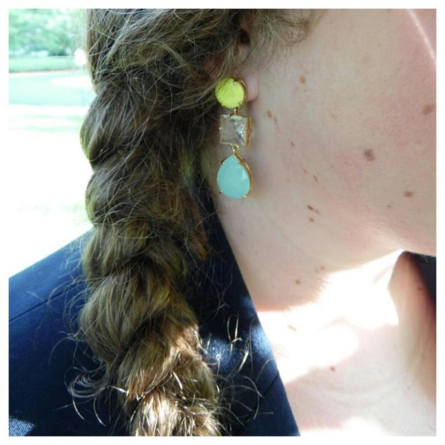 Earrings, JCrew, $20 on consignment