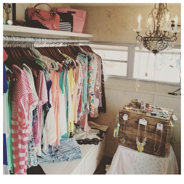 Inside Boho Pretty Mobile Boutique